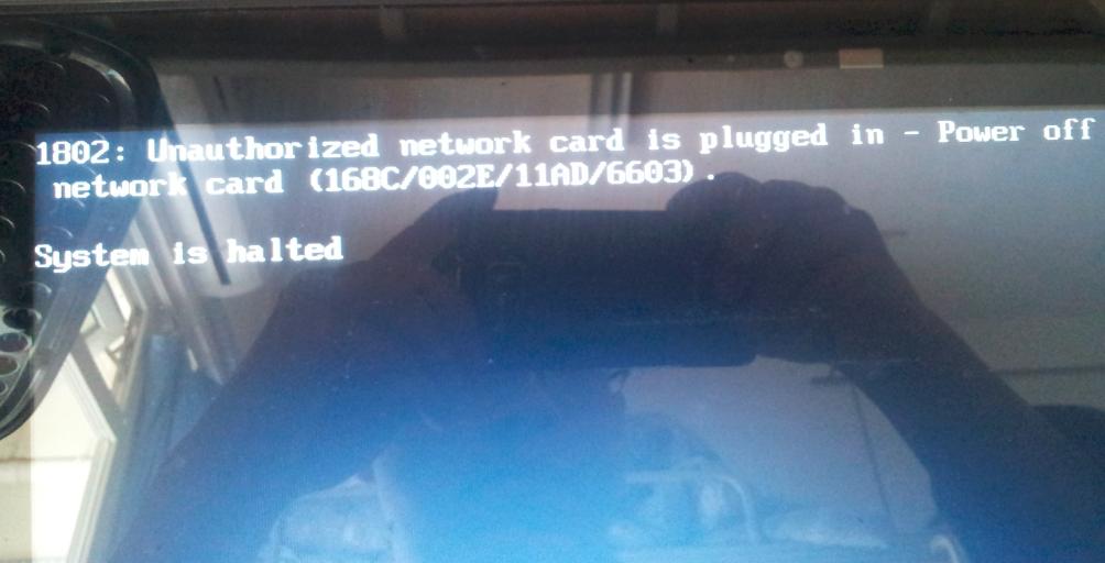 BIOS 错误信息