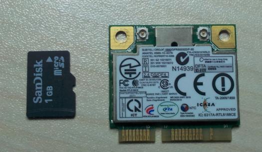 无线网卡(半高)及大小对比
