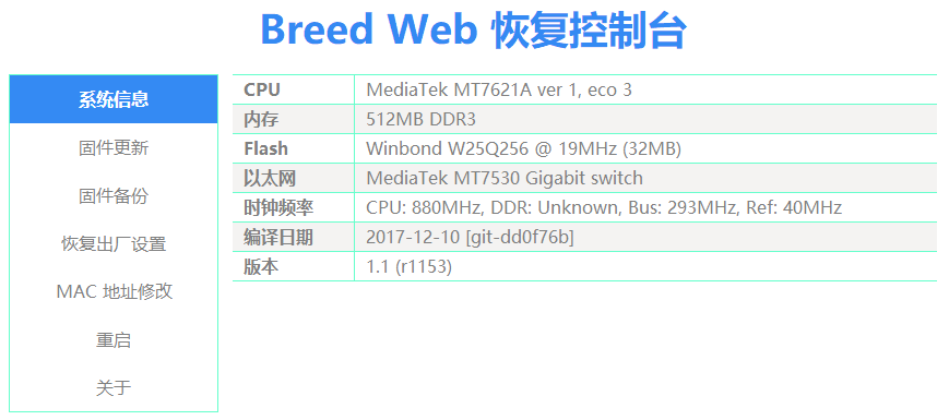 Breed Web page